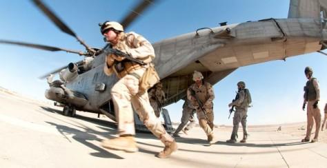troops leave plane