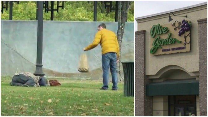 Man uses Olive Garden's 'Never Ending Pasta Pass' to feed the homeless