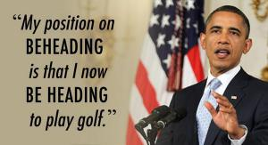 Terrorists have crossed a red line in targeting golf course terrorism!