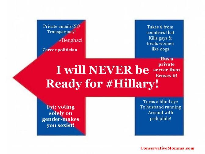 Top 10 Reasons on Why I am NOT voting for Hillary in 2016