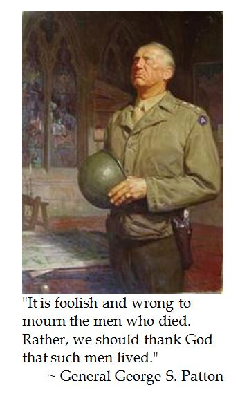 Gen. George S. Patton on Fallen Soldiers