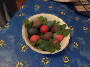 Home dyed Easter Eggs