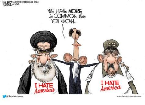 Obama-Iran-Cuba-Hate-America