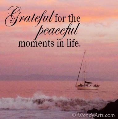 The Gratitude Habit Journal: Grateful for Peaceful Moments