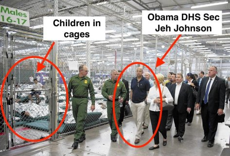 Obama held illegal children in cages2
